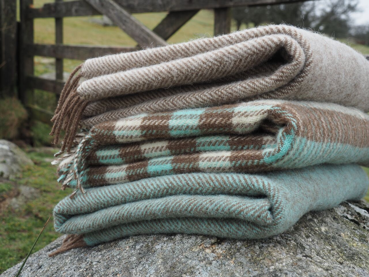 Blankets made from rare breed wool