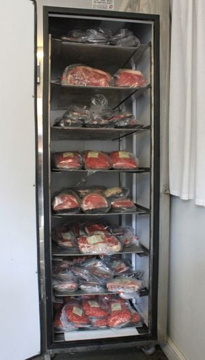 Beef in fridge