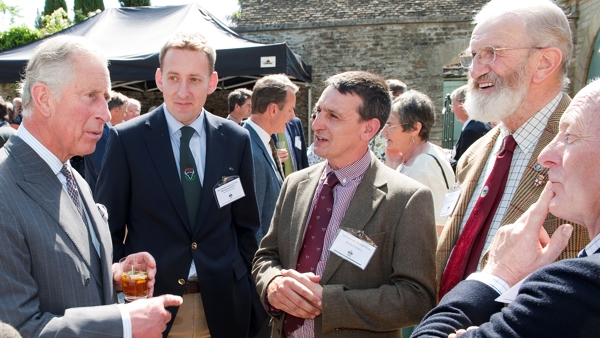 David Walton (centre) with RBST Patron HRH The Prince of Wales, Rob Havard, Eric Freeman and Peter Titley